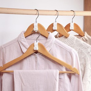 Use hanger connectors to add extra space in your apartment closets.