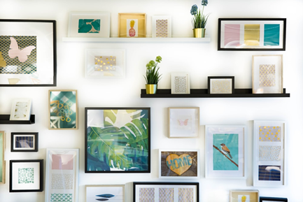 Use wall hangings can help improve the look and feel of any room.